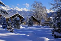 Зимний пейзаж поселка