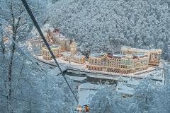 Зимняя сказка курорта Роза Хутор
