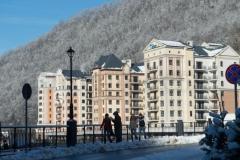 Апарт отель Вальсет Роза Хутор зимой
